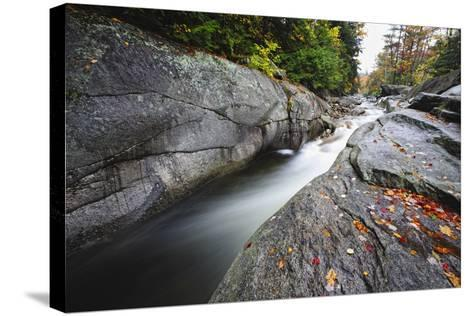 Casacading Creek, White Mountains, NH-George Oze-Stretched Canvas Print