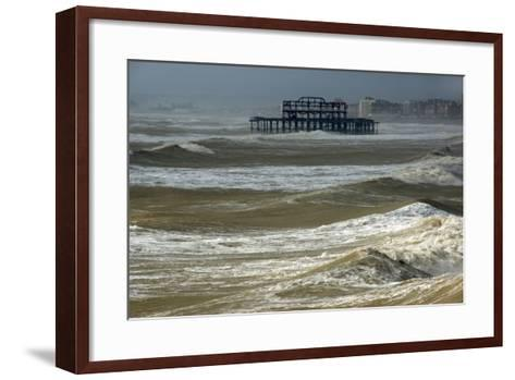 Brighton Storm-Charles Bowman-Framed Art Print