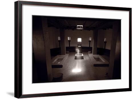 Great Kiva Spirit Aztec Ruins National Monument BW-Steve Gadomski-Framed Art Print