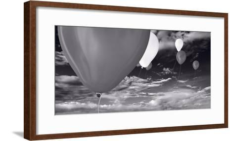 Balloon Launch BW-Steve Gadomski-Framed Art Print