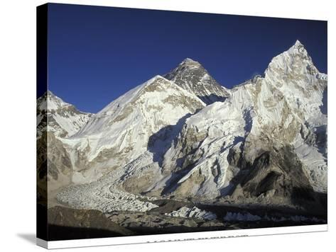 Mount Everest-AdventureArt-Stretched Canvas Print