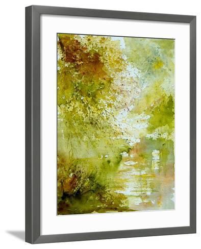 Watercolor - landscape - 211005-Pol Ledent-Framed Art Print