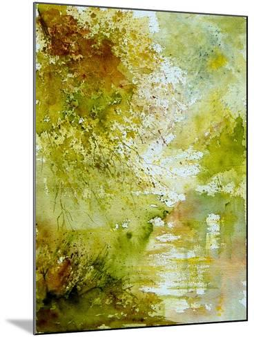 Watercolor - landscape - 211005-Pol Ledent-Mounted Art Print