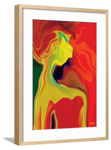 Lady in Red-Rabi Khan-Framed Art Print