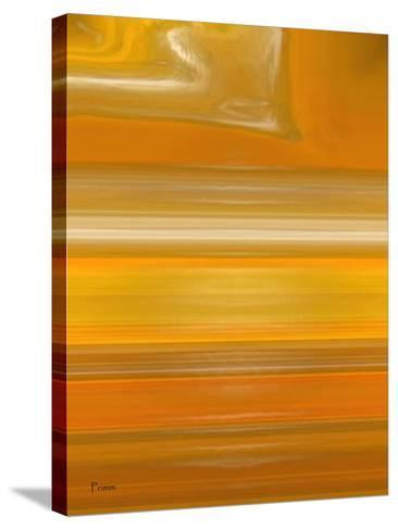 Orange Line-Kenny Primmer-Stretched Canvas Print