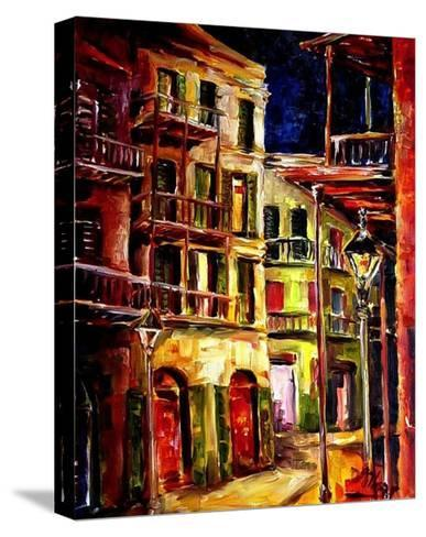 New Orleans Side Street-Diane Millsap-Stretched Canvas Print