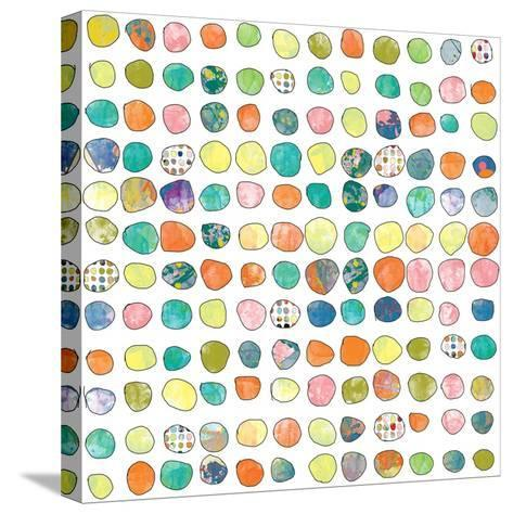 Dot world One-Jan Weiss-Stretched Canvas Print