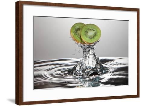 Kiwi FreshSplash-Steve Gadomski-Framed Art Print