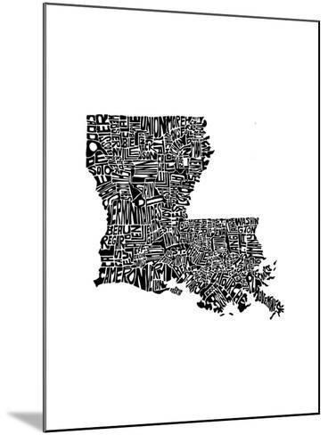 Typographic Louisiana-CAPow-Mounted Art Print