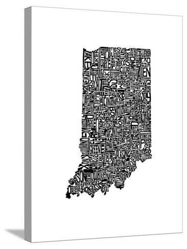 Typographic Indiana-CAPow-Stretched Canvas Print