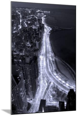 Lake Shore Drive Aerial Black White-Steve Gadomski-Mounted Photographic Print