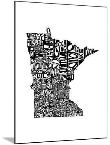 Typographic Minnesota-CAPow-Mounted Art Print