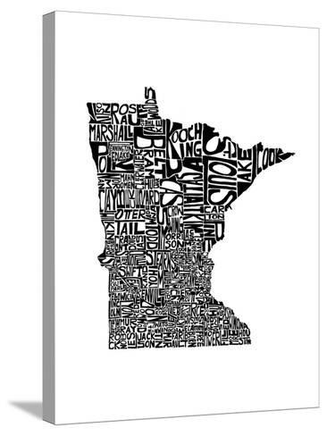 Typographic Minnesota-CAPow-Stretched Canvas Print