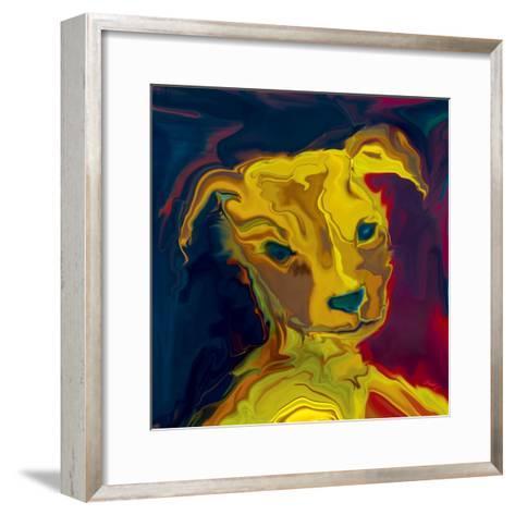Potrait-of-a-Puppy-Rabi Khan-Framed Art Print
