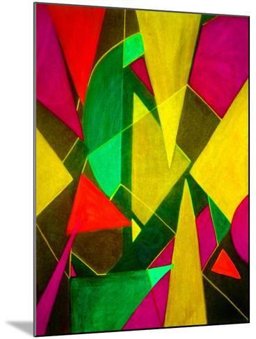 Teeming Triangles II-Ruth Palmer-Mounted Art Print