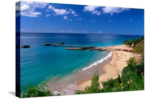 Aerial View of Playa Crashboat, Puerto Rico-George Oze-Stretched Canvas Print