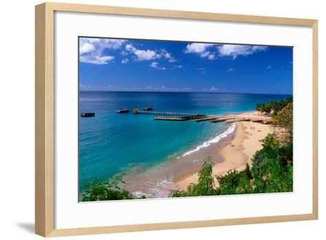 Aerial View of Playa Crashboat, Puerto Rico-George Oze-Framed Art Print