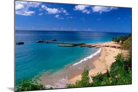 Aerial View of Playa Crashboat, Puerto Rico-George Oze-Mounted Photographic Print