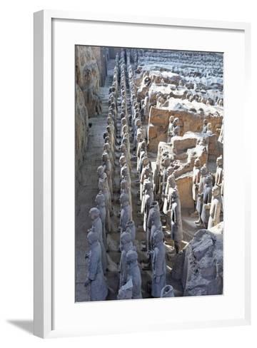 Vanguard Line of Terracotta Warriors, China-George Oze-Framed Art Print