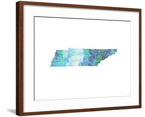 Typographic Tennessee Cool-CAPow-Framed Art Print