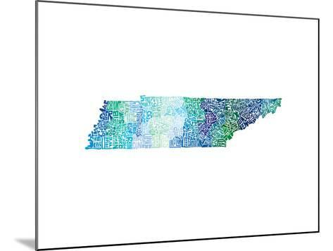 Typographic Tennessee Cool-CAPow-Mounted Art Print
