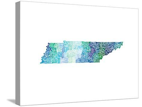 Typographic Tennessee Cool-CAPow-Stretched Canvas Print