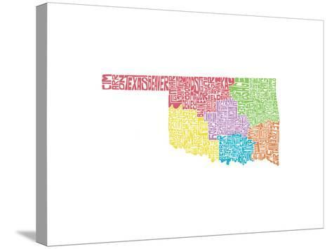 Typographic Oklahoma Regions-CAPow-Stretched Canvas Print