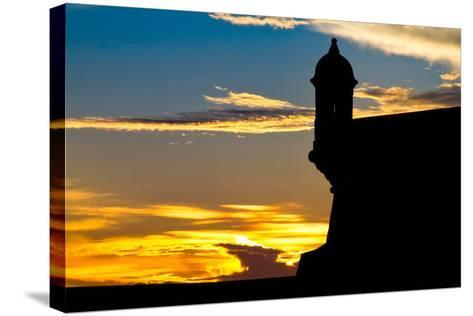 El Morro Fort at Sunset, Puerto Rico-George Oze-Stretched Canvas Print