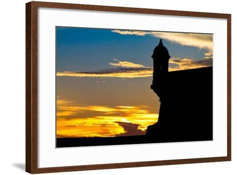 El Morro Fort at Sunset, Puerto Rico-George Oze-Framed Art Print