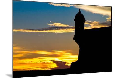 El Morro Fort at Sunset, Puerto Rico-George Oze-Mounted Photographic Print
