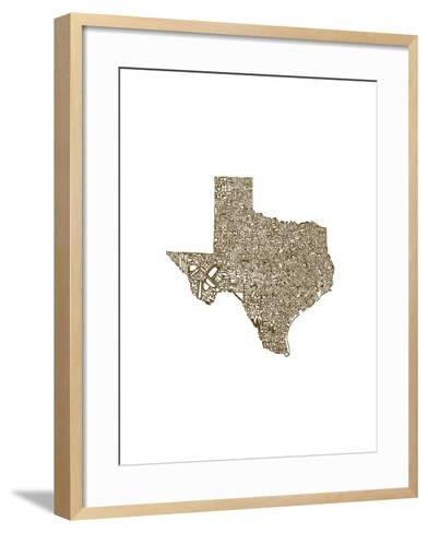 Typographic Texas Brown-CAPow-Framed Art Print