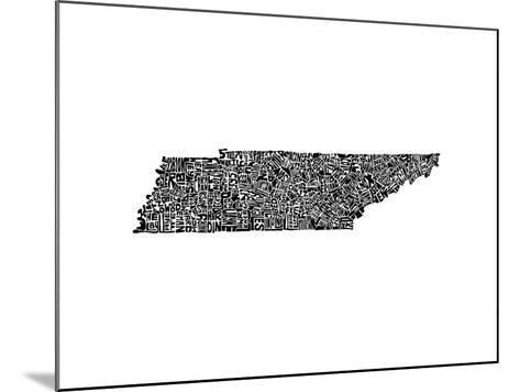 Typographic Tennessee-CAPow-Mounted Art Print