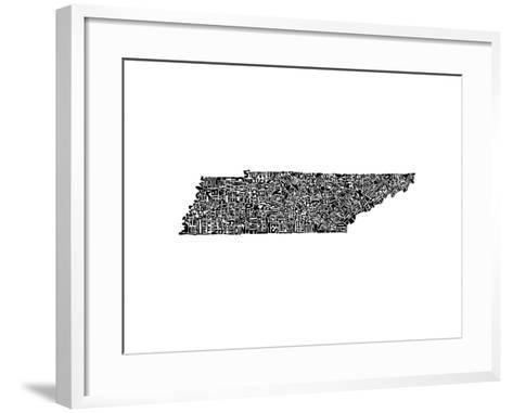 Typographic Tennessee-CAPow-Framed Art Print