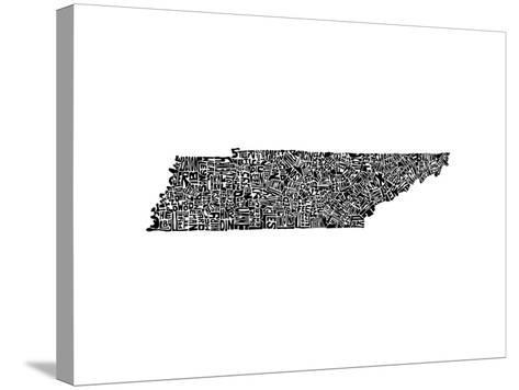 Typographic Tennessee-CAPow-Stretched Canvas Print