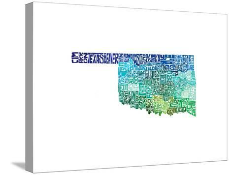 Typographic Oklahoma Cool-CAPow-Stretched Canvas Print