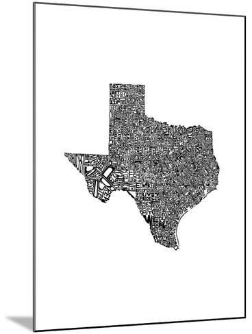 Typographic Texas-CAPow-Mounted Art Print