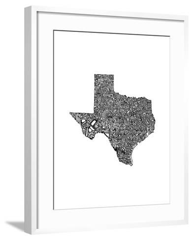 Typographic Texas-CAPow-Framed Art Print