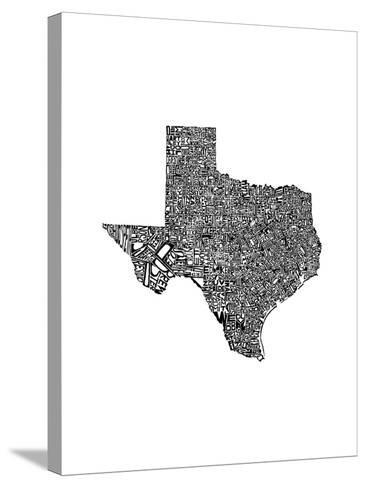 Typographic Texas-CAPow-Stretched Canvas Print
