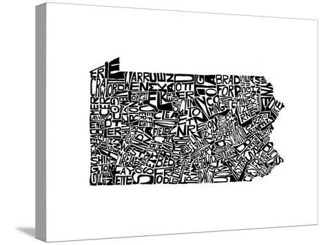 Typographic Pennsylvania-CAPow-Stretched Canvas Print