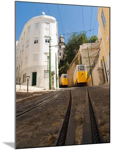 Elevator Cable Cars of Lisbon-George Oze-Mounted Photographic Print