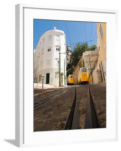 Elevator Cable Cars of Lisbon-George Oze-Framed Art Print