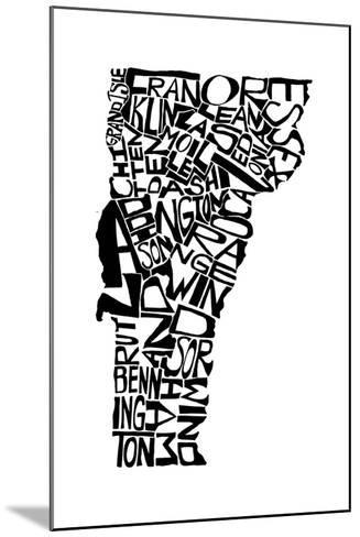 Typographic Vermont-CAPow-Mounted Art Print