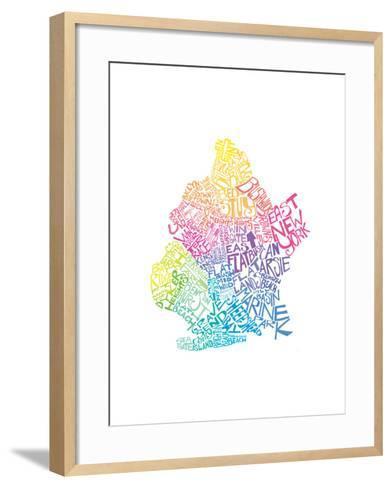 Typographic Brooklyn Spring-CAPow-Framed Art Print