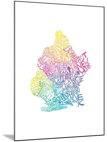 Typographic Brooklyn Spring-CAPow-Mounted Art Print