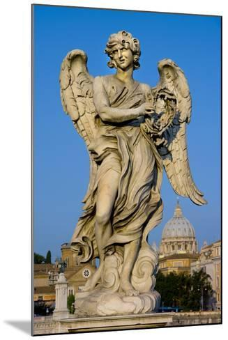 Angel Statue Rome-Charles Bowman-Mounted Photographic Print