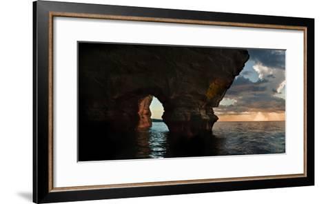Apostle Islands Sea Cave-Steve Gadomski-Framed Art Print