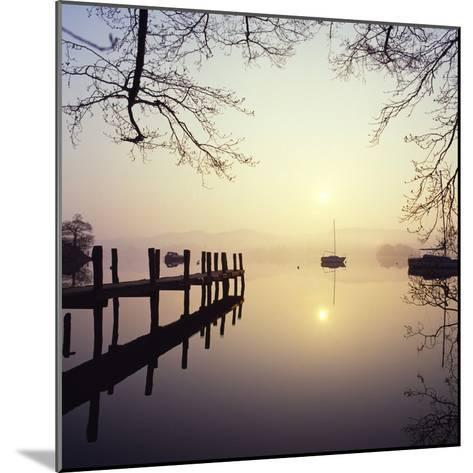 Sunrise Over Derwentwater-Charles Bowman-Mounted Photographic Print