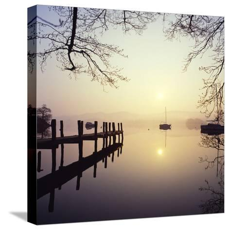 Sunrise Over Derwentwater-Charles Bowman-Stretched Canvas Print