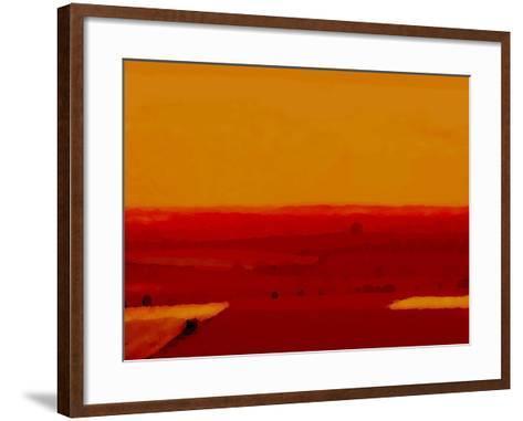 Red Land-Kenny Primmer-Framed Art Print