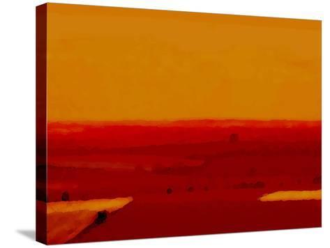 Red Land-Kenny Primmer-Stretched Canvas Print